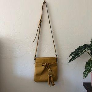 Mustard yellow cross body purse/bag